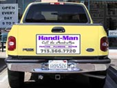 Truck tailgate magnetic sign